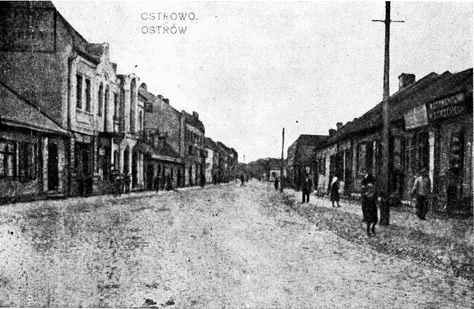 Town of Ostrow in Poland